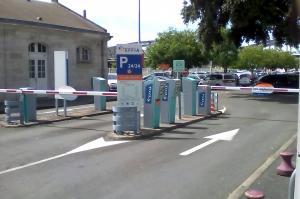 parking gare de la rochelle-entrées et sorties